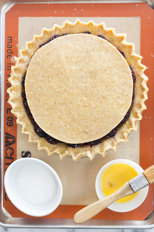 Brown Butter Blackberry Pie pre-bake