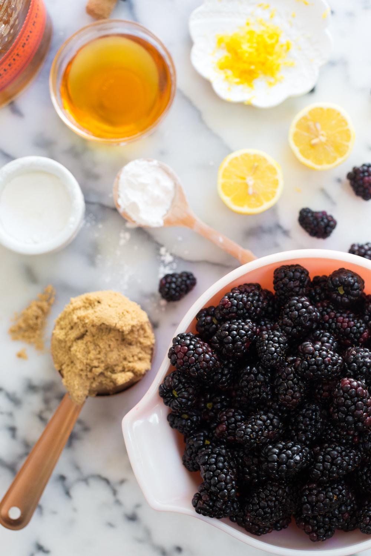Brown Butter Blackberry Pie filling ingredients