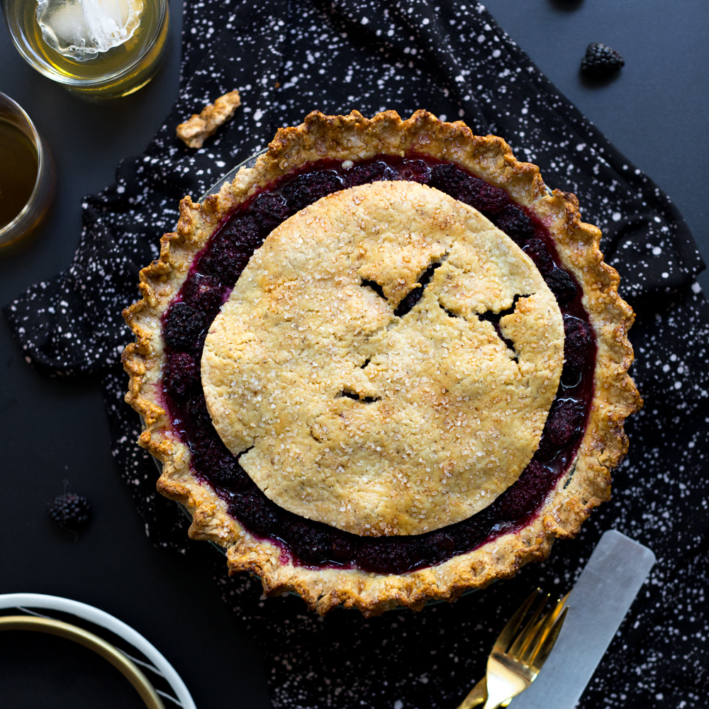 Brown Butter Blackberry Pie by Baking The Goods.