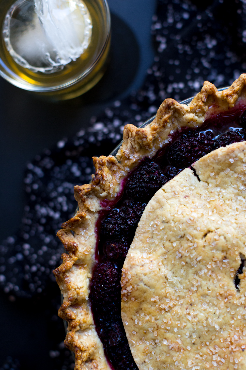 Brown Butter Blackberry Pie close up