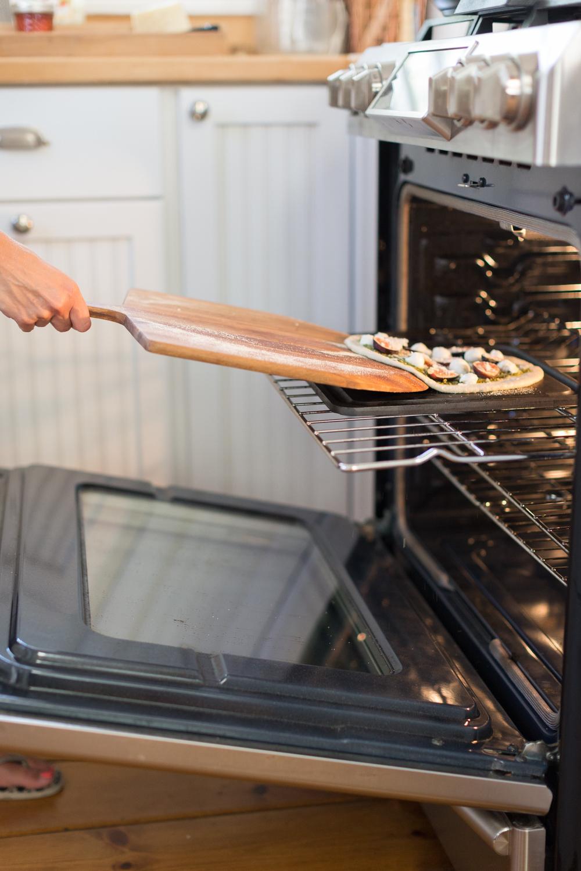 Fig and Pistachio Pesto Pizza oven