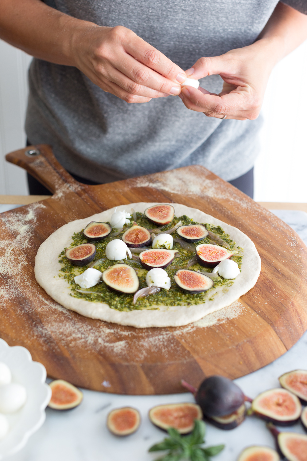Fig and Pistachio Pesto Pizza topping