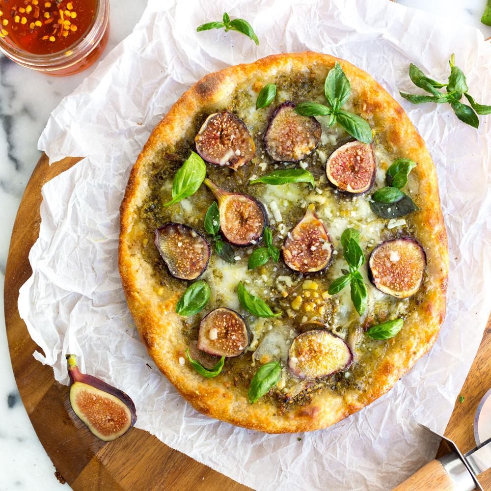 Fig and Pistachio Pesto Pizza