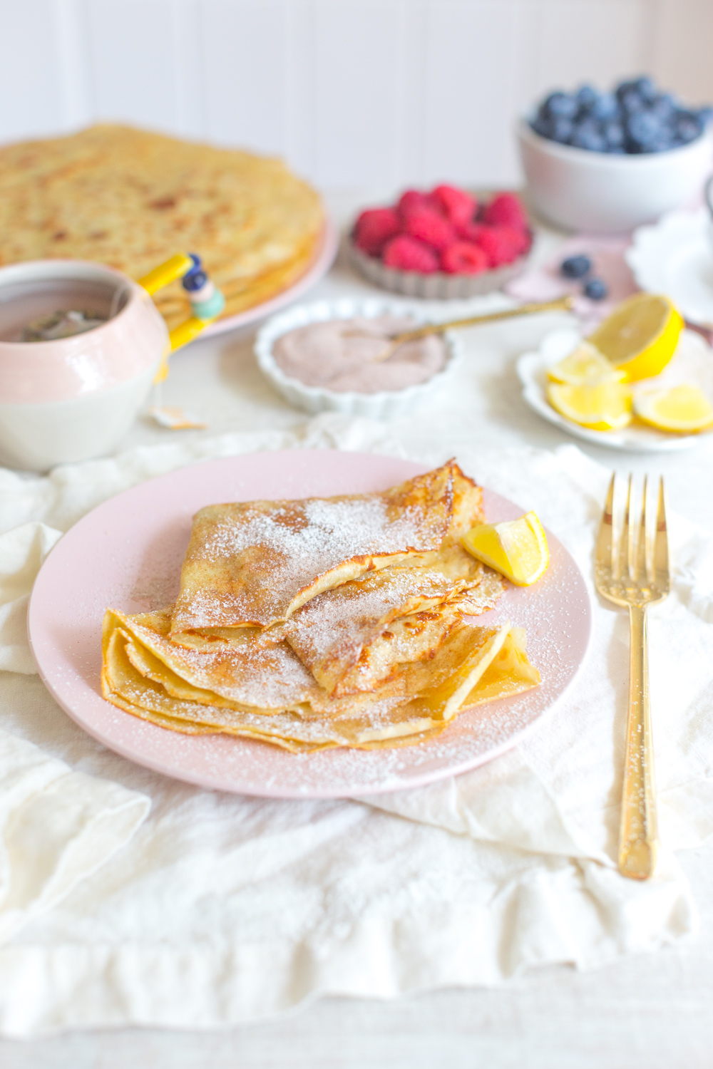 The Best Basic Crepes with toppings