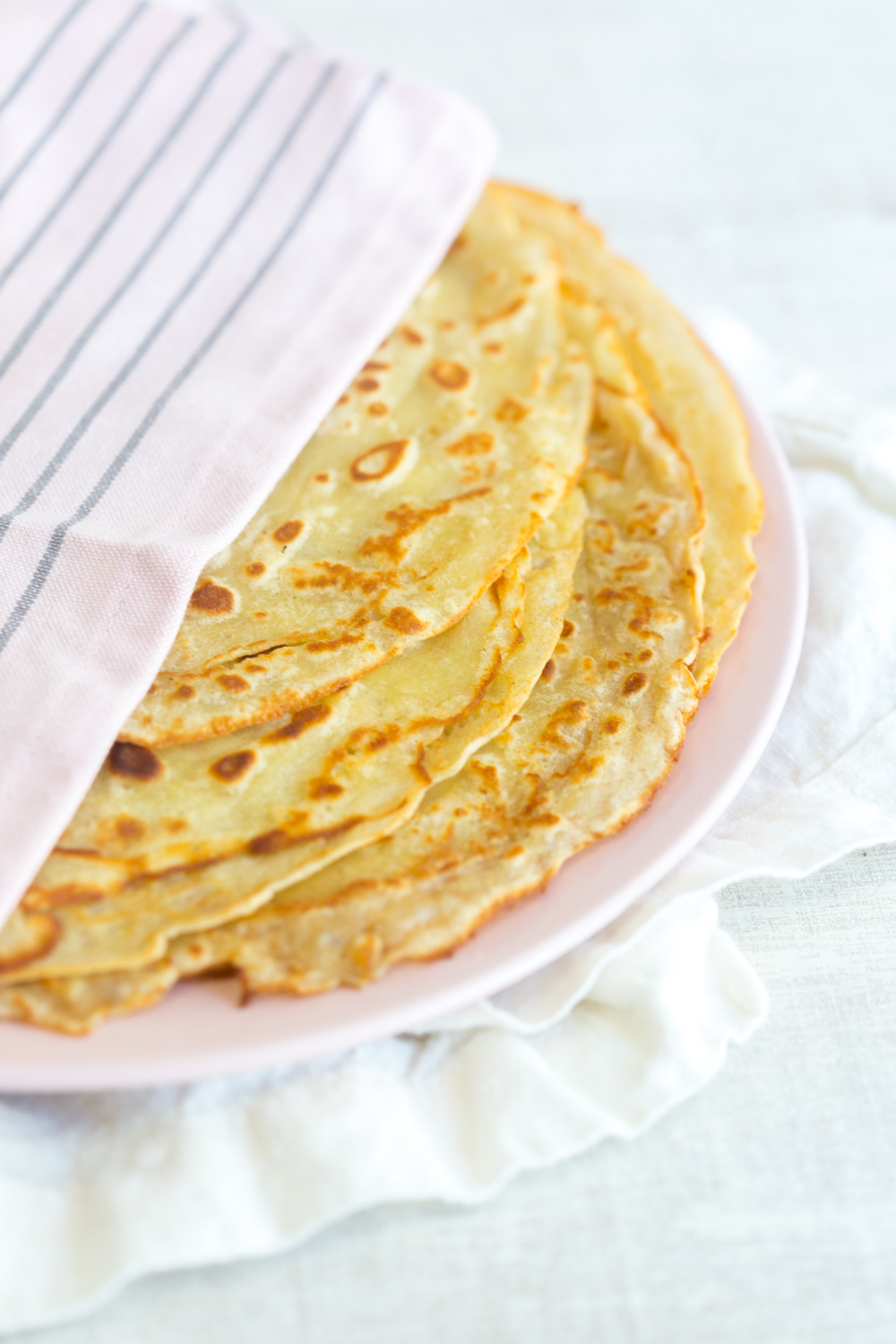 A fat stack of The Best Basic Crepes.