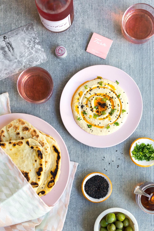 Creamy Dreamy Hummus snack spread.