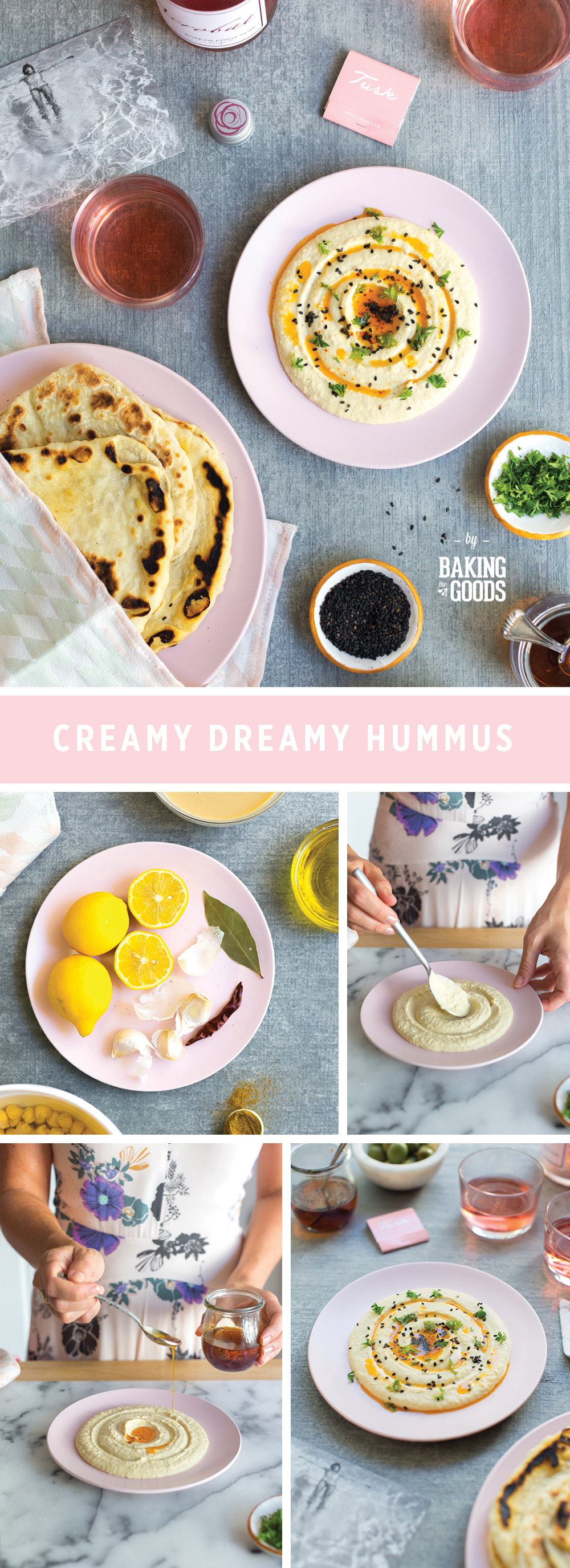 Creamy Dreamy Hummus by Baking The Goods.