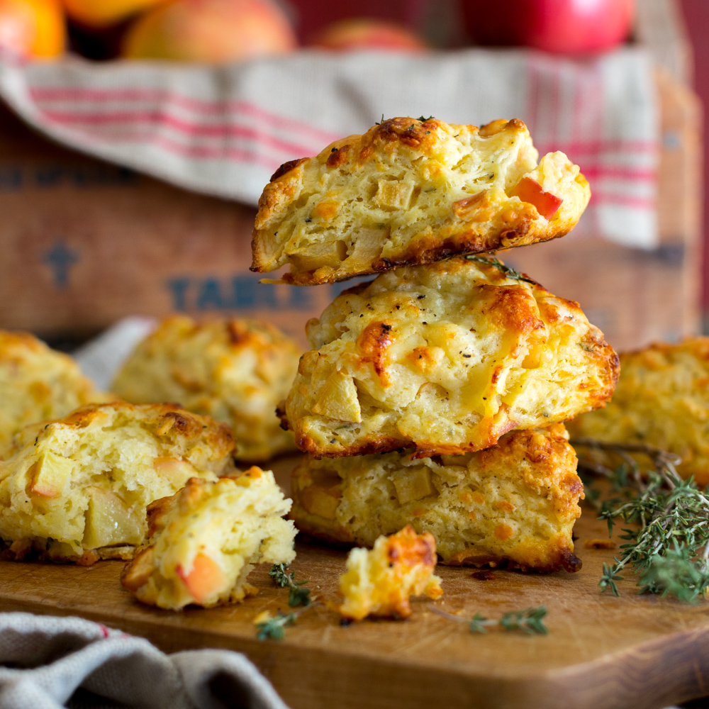 Apple Cheddar and Thyme Scones by Baking The Goods