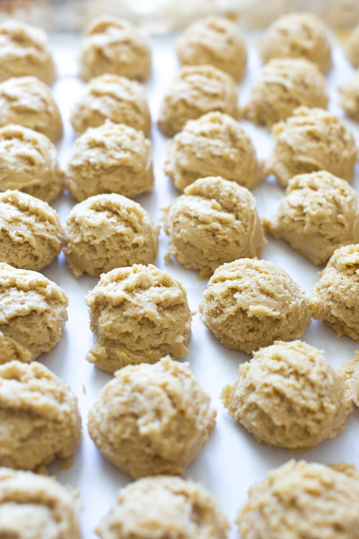 Black & White Tahini Cookies dough balls