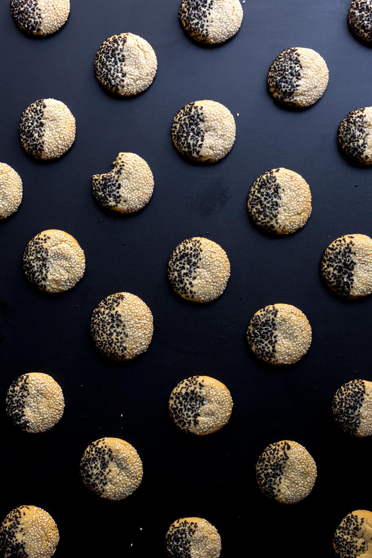 Black & White Tahini Cookies grid