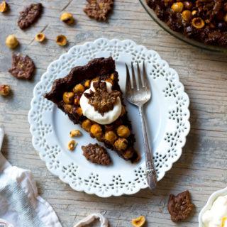 Chocolate Hazelnut Maple Bourbon Pie
