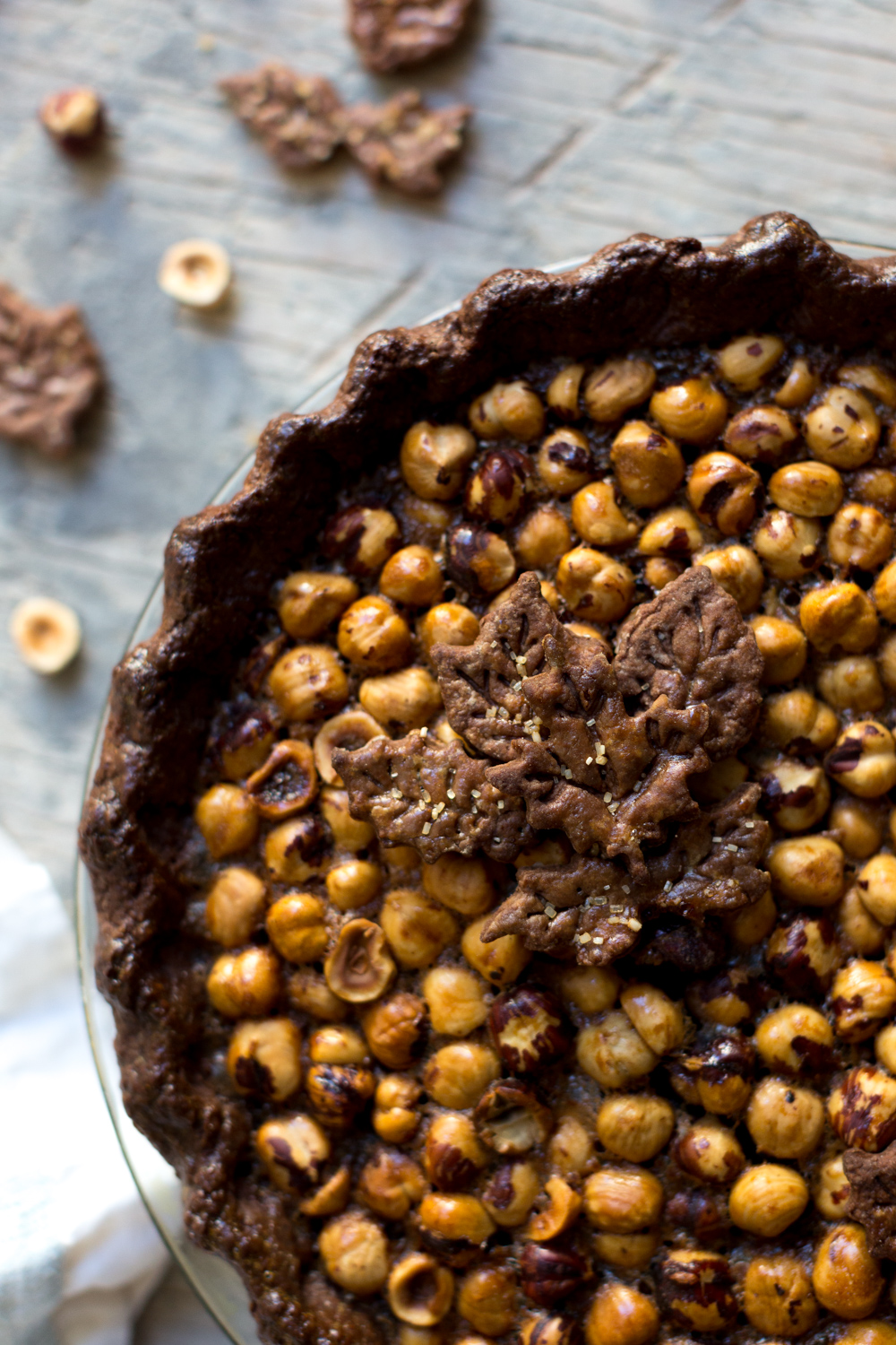 Chocolate Hazelnut Maple Bourbon Pie texture.