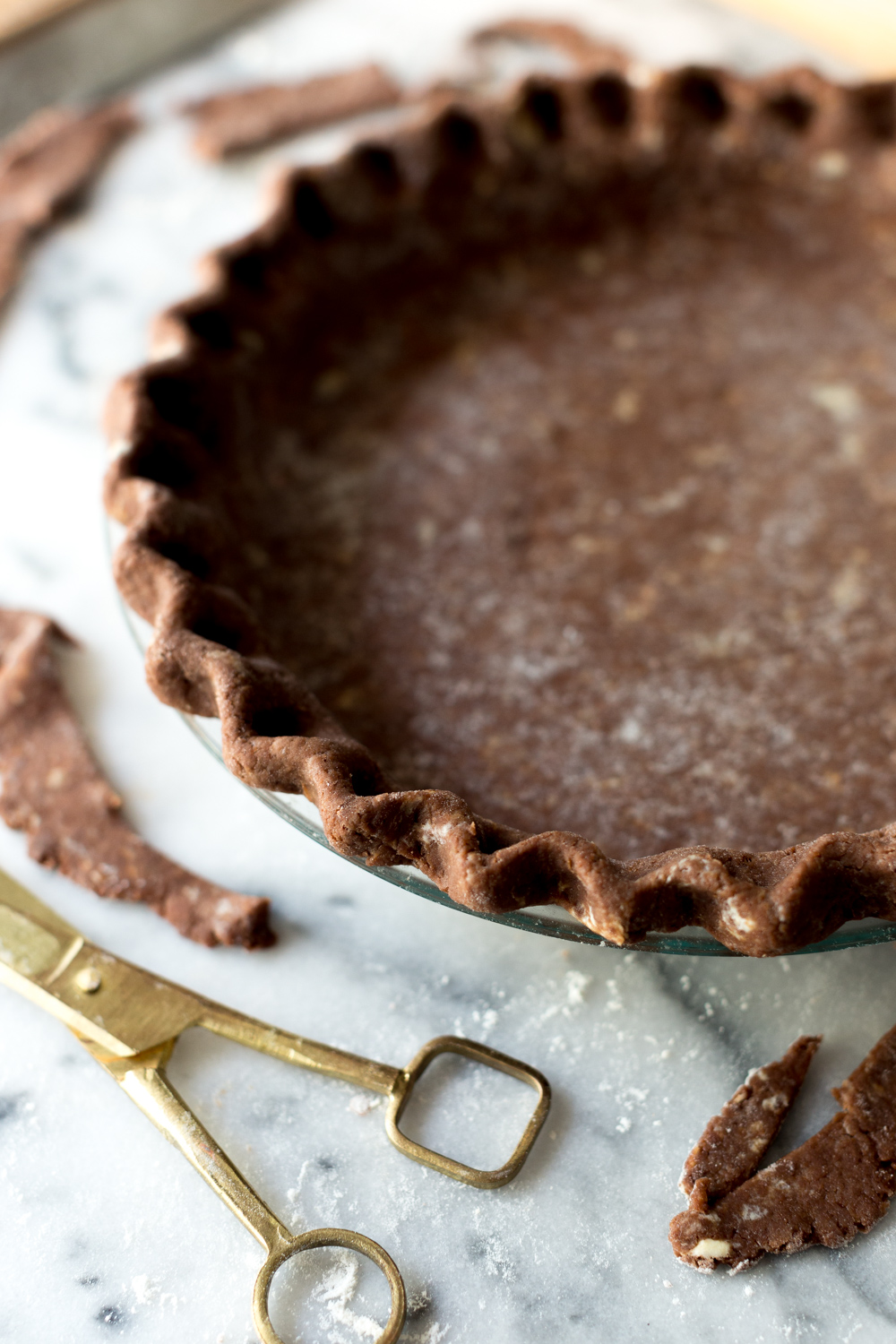 Chocolate Hazelnut Maple Bourbon Pie crust.