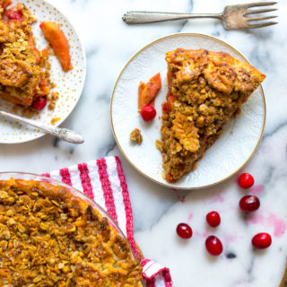 Cran Apple Brown Butter Crumble Pie by Baking The Goods.