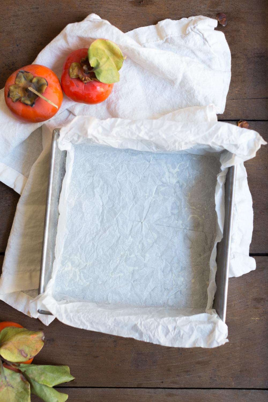 Persimmon Cranberry Crumb Cake pan
