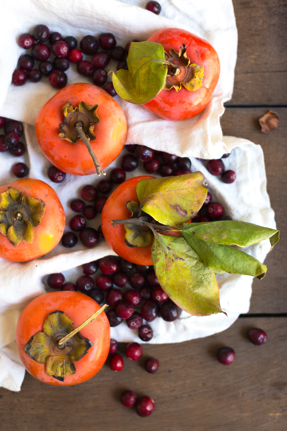 persimmons and cranberries