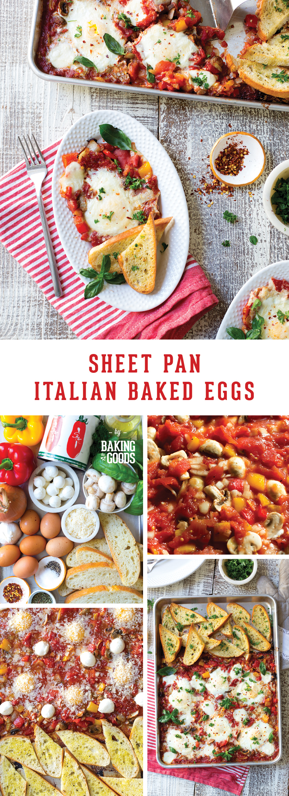 Sheet Pan Italian Baked Eggs by Baking The Goods