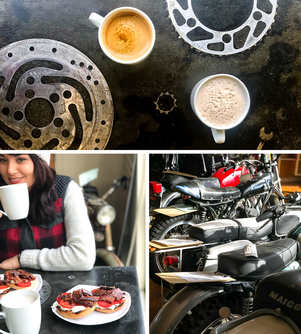 Black Lightning Motorcycle Cafe in Eureka, CA by Baking The Goods
