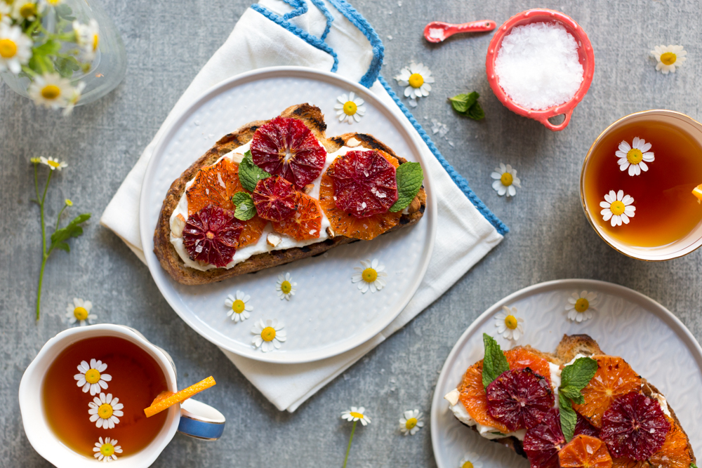 Broiled Orange Whipped Ricotta Toasts, a delightful treat anytime of day