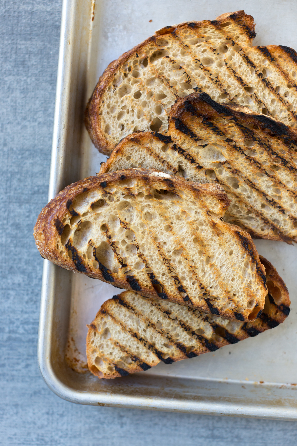Broiled Orange Whipped Ricotta Toasts- grilled bread