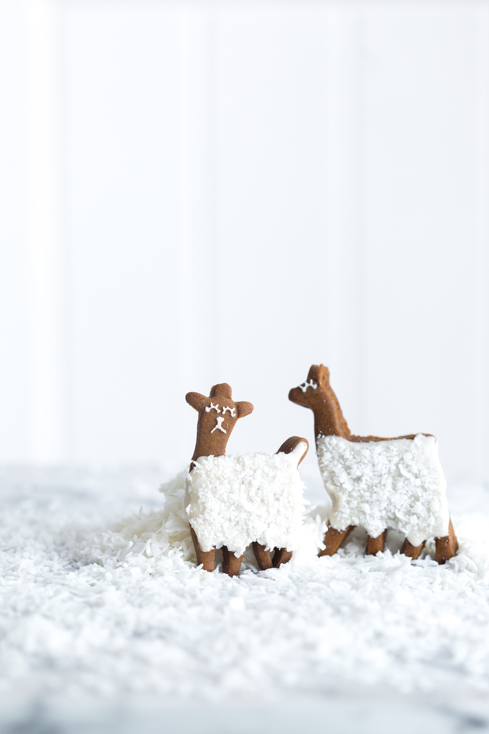 Gingerbread Coconut Llama Cookies - happily ever after