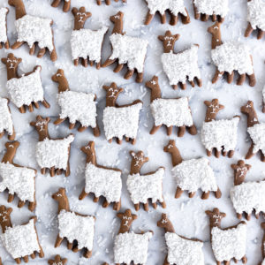 Gingerbread Coconut Llama Cookies