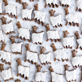 Gingerbread Coconut Llama Cookies by Baking The Goods.