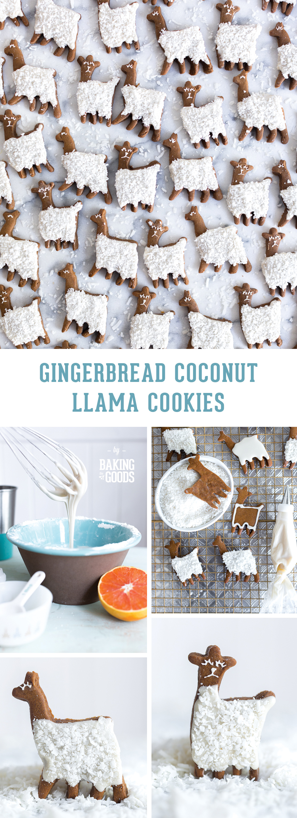 Gingerbread Coconut Llama Cookies by Baking The Goods