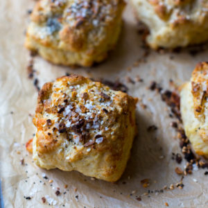 Goat Cheese Everything Biscuits