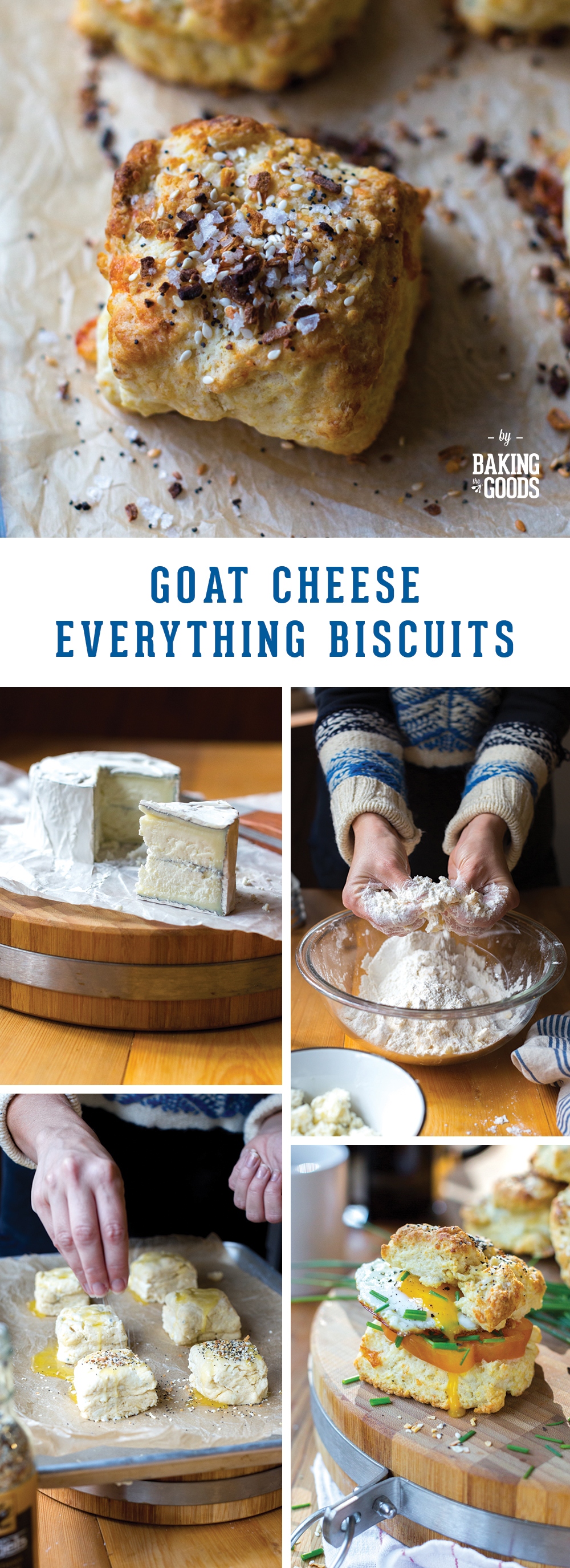 Goat Cheese Everything Biscuits by Baking The Goods