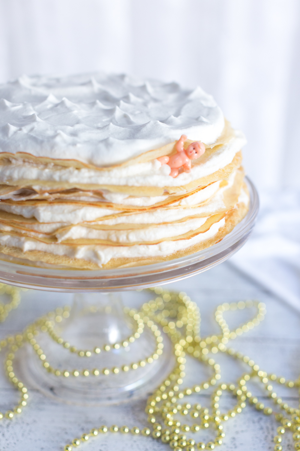 Layers of Crepe King Cake