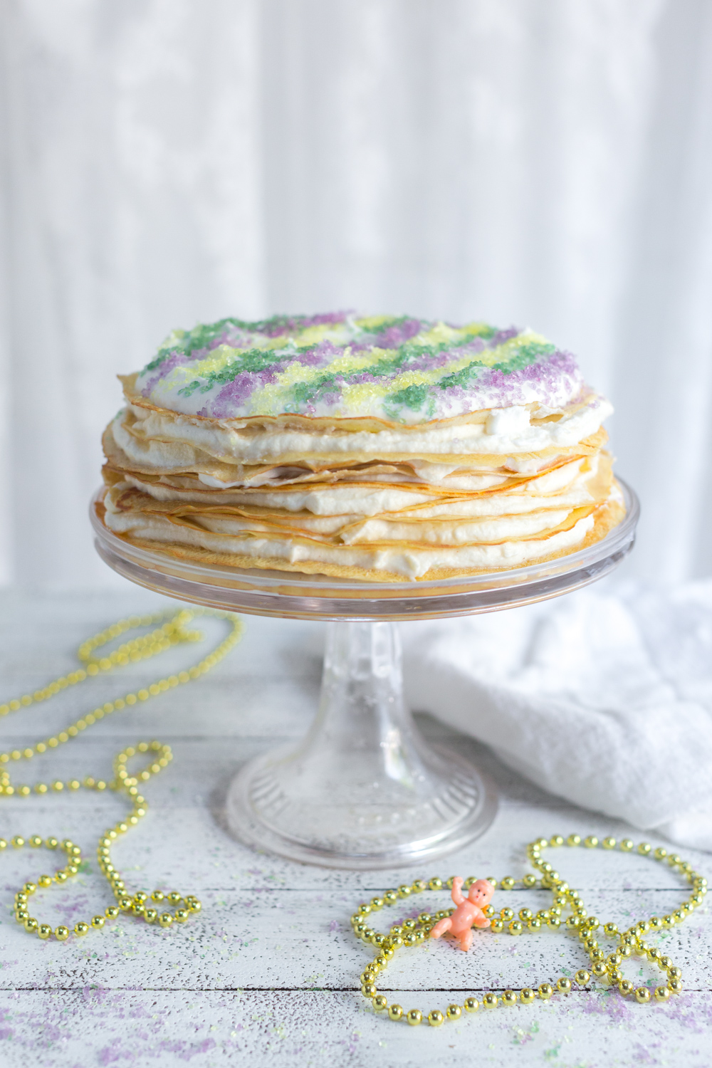 Crepe King Cake from Baking The Goods