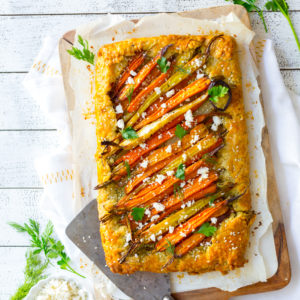 Roasted Carrot & Herby Feta Galette