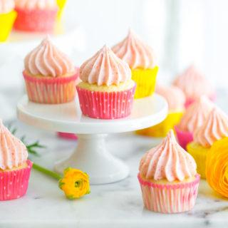 Mini Strawberry Lemon Cupcakes by Baking The Goods