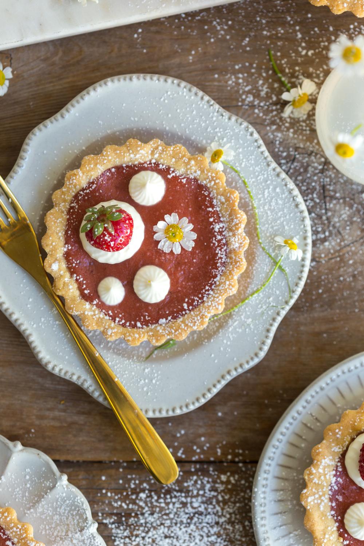 Strawberry Rhubarb Curd Tartlet