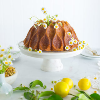 Lemon Chamomile Honey Bundt Cake by Baking The Goods.