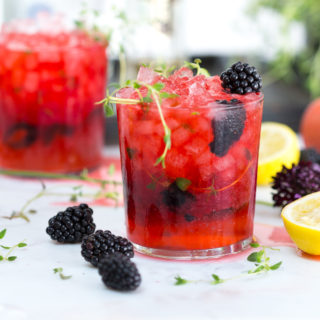 Blackberry Gin Smash by Baking The Goods