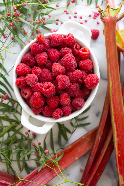 Raspberry Rhubarb Pink Peppercorn Hand Pies