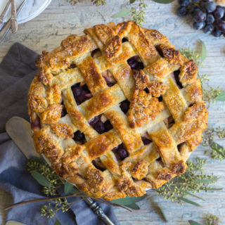 Spiced Up Grape Apple Pie by Baking The Goods