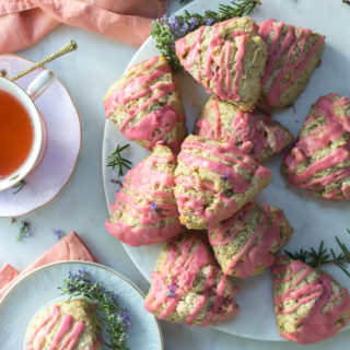 Blood Orange Rosemary Poppy Seed Scones by Baking The Goods