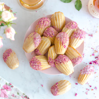 Rose Rosé Madeleines by Baking The Goods