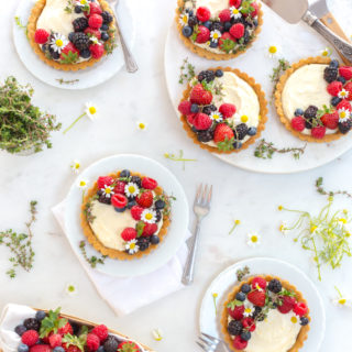 Berry Mascarpone Tarts with Almond Shortbread Crust by Baking The Goods