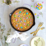 M&M Skillet Cookie by Baking The Goods