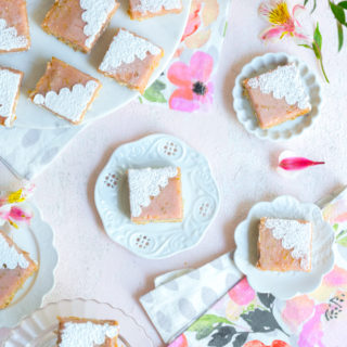 Hibiscus Margarita Bars with Coconut Crust by Baking The Goods