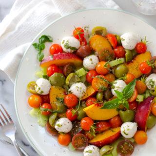 Cherry Tomato, Nectarine and Mozzarella Salad from Baking The Goods