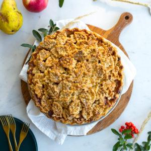 Apple Pear Gruyere Pie