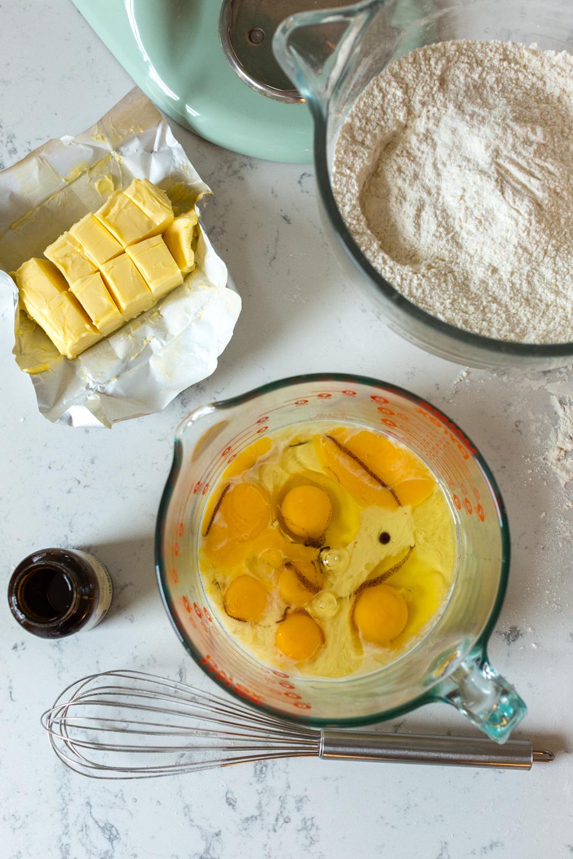 Eggnog Sheet Cake ingredients