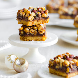 Salted Hazelnut Chocolate Maple Rum Bars by Baking The Goods
