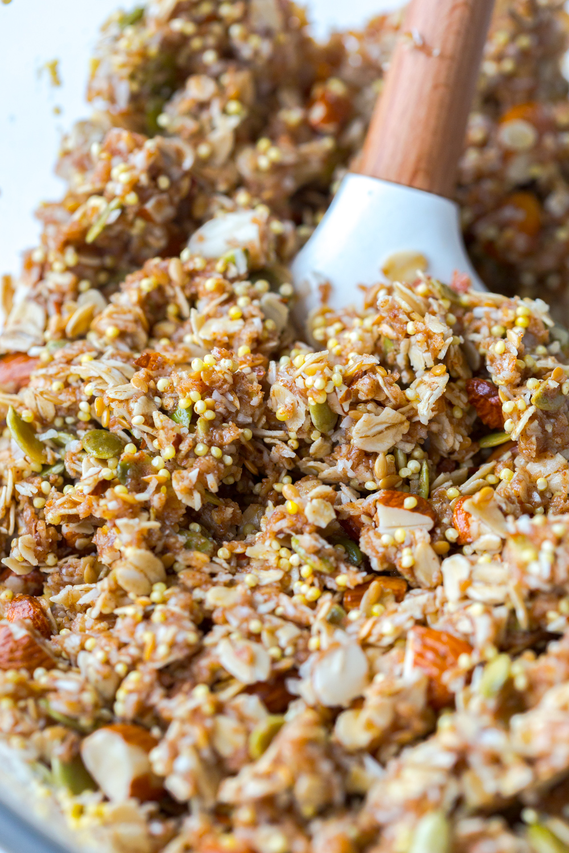 Mixed Seedy Almond Oat Bars