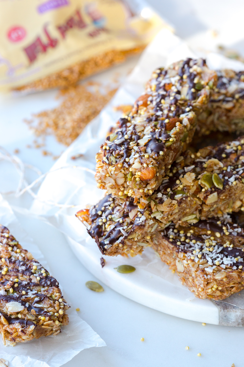 Seedy Almond Oat Bars from Baking The Goods